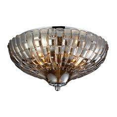 Westmore Lighting�12-in W Polished Chrome Ceiling Flush Mount
