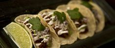 Bohemia-Braised Brisket Tacos with Tomatillo Salsa with Horseradish Crema | The Latin Kitchen