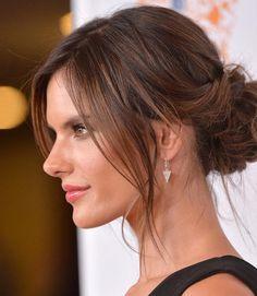 20 Effortless Undone Buns: Alessandra Ambrosio Loose Bun #bun #updohairstyle