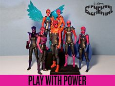 IAmElemental Action Figures for Girls Fierce female action figures that embody the Elements of Courage: Bravery, Energy, Honesty, Industry, Enthusiasm, Persistence & Fear.