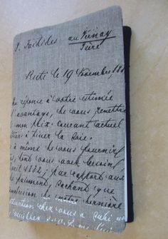 """Housse de protection pour livre grand format """"lettre à Monsieur"""" : Etuis portables par aujardindemarie"""