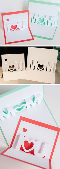 I Love You Pop Up Cards Click Pic for 20 DIY Mothers Day Craft Ideas for Kids to Make Homemade Mothers Day Crafts for Toddlers to Make Diy Gifts For Mom, Mothers Day Crafts For Kids, Diy Mothers Day Gifts, Crafts For Kids To Make, Kids Crafts, Kids Diy, Present For Mom, Mothers Day Ideas, Diy Cards For Mom