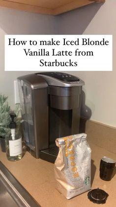 Starbucks Iced Vanilla Latte Recipe, Starbucks Recipes, Starbucks Drinks, Starbucks Coffee, Keurig Recipes, Coffee Drink Recipes, Keto Recipes, Vegetarian Recipes, Cooking Recipes