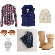 Winter cozy active, created by denamarae on Polyvore