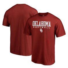 Oklahoma Sooners Fanatics Branded Big & Tall True Sport Softball T-Shirt - Scarlet
