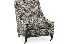 APPROVED Piano Room Accent Chair- Drexel Heritage Merris Chair. Image depicts chair frame only. Selected fabric and finish not rendered in image.