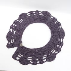 Crochet Collar Peter Pan Style crochet Collar Purple by evefashion, £12.00