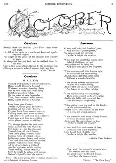 October 1908 poetry page