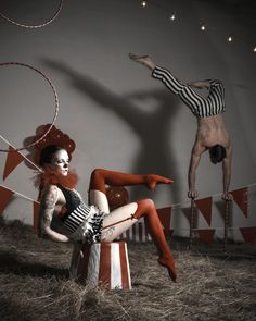 "darkbeautymag: "" Photographer: Skye Ten Eyck - Radiance Photographics Lighting: Keith Ten Eyck Model: Andrea Von W. and Tad Merrell "" Dark Circus, Circus Art, Circus Theme, Circus Poster, Circus Birthday, Birthday Parties, Creepy Circus, Creepy Carnival, Carnival Costumes"