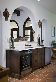 Mediterranean Home Bar Design, Pictures, Remodel, Decor and Ideas