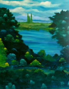 """David Snider; Oil 2013 Painting """"The Clearing"""""""