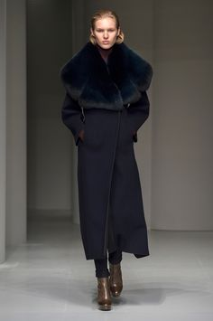 """Exacting proportions, dusty patchwork animal prints and covetable accessories, including a return of the """"F"""" heel. Every look from the Ferragamo Fall Winter 2017 women's fashion show."""
