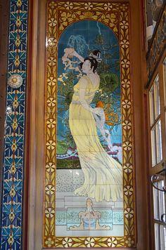 Architecture Art Nouveau, Art Nouveau Interior, Art Chinois, Pre Raphaelite, Commercial Art, Tile Art, Chinese Art, Victorian Era, Illustrators