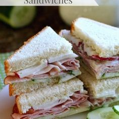 Spring inspired Ham & Cucumber Sandwiches that are perfect for lunch and dinner on a busy day! A great sandwich is never to far away when you have the right ingredients on hand. Snickers Popcorn, Amaretto Cheesecake, Pork Sirloin Roast, Toffee Cookies, Cucumber Sandwiches, Pepper Jack Cheese, Italian Cookies, Apple Crisp, The Fresh
