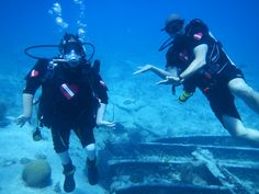 Conner who has severe Cerebral Palsy diving the wreck of the Bentwood in Key Largo with Dive Heart
