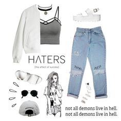 """""""""""One of the most courageous things you will ever make is to finally let go of whatever is hurting your heart and soul."""" -Brigitte Nicole"""" by are-you-with-me on Polyvore featuring Chictopia, Windsor Smith, Charlotte Russe, T By Alexander Wang, Old Navy, Ray-Ban and Topshop"""