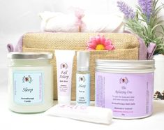 Your place to buy and sell all things handmade Lavender For Sleep, Essential Oil Gift Set, Relaxation Gifts, Be Natural, Spa Gifts, Gift Hampers, Gift Sets, Diy Skin Care, Secret Santa