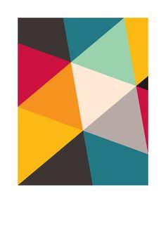 Tilting Triangles - Art Print by Gary Andrew Clarke/Society6