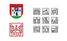 Erb, zněj odvozené logo apiktogramy Příbrami, Lemon design, zdroj: font.cz, mediar.cz