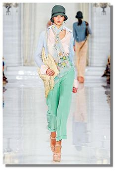Ralph Lauren Collection using Pastels and Past Decades