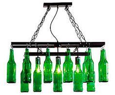 Lustre garrafas de cerveja