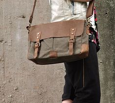 Canvas Shoulder Bag Leather Canvas Messenger Bag Canvas Messenger Bag, Messenger Bag Men, Canvas Shoulder Bag, Leather Shoulder Bag, Leather Buckle, Leather Bag, Designer Inspired Handbags, Computer Bags, Cheap Handbags