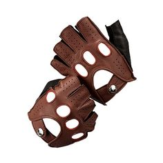 Aspinal Leather Fingerless Driving Gloves in Brown Deerskin with hand stitched detail are handmade with the finest buttery soft Deerskin leather to fit snugly and comfortably. The Deerskin construction of the Aspinal driving glove makes them...