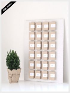 Clever advent/count-down calendar: jewelry boxes, tacked to a bulletin board. Label the lids, stick in treats, put on lids.