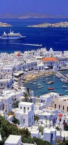 Mykonos, Greece - love the vacation I took here, so laid back, wonderful food and weather <3