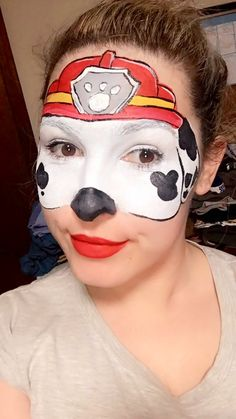 paw patrol rocky face painting face painting paw patrol pinterest maquillage maquillage. Black Bedroom Furniture Sets. Home Design Ideas