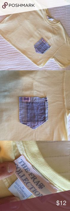 The Frat Collection frocket t-shirt Perfect condition. No flaws. Great yellow color Frat Collection  Tops Tees - Short Sleeve