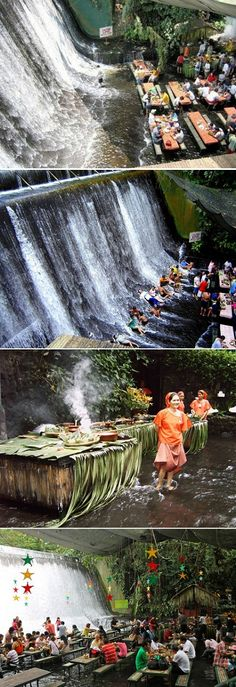 Waterfalls restaurant in the Phillippines