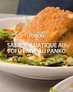 The light crispy coating sticks to the tofu with the help of our Asian Sesame Dressing, which serves double duty as a marinade and a salad dressing in this tasty salad recipe. Tofu Recipes, Easy Chicken Recipes, Asian Recipes, Vegetarian Recipes, Cooking Recipes, Healthy Recipes, Cooking Blogs, Cooking Cake, Cooking Timer