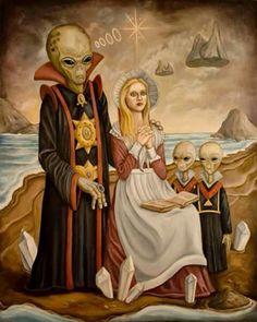 Ancient Alien mysteries/ hybrids of yore Alien Gris, Arte Sci Fi, Sci Fi Art, Aliens And Ufos, Ancient Aliens, Art Alien, Sci Fi Kunst, Science Fiction Kunst, Rick Genest