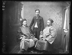 General Ho & Tsing [with unidentified Chinese male, 1887 / photographed by Freeman Studios] | Flickr - Photo Sharing!  Chinnese Commisioners,  General Wong Yung Ho  and Consul-General U Tsing on an official visit to Sydney in 1887