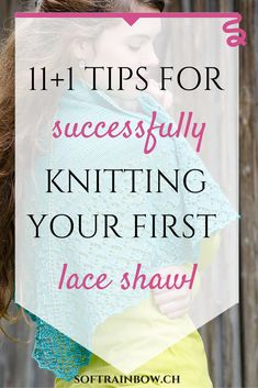 11+1 tips for successfully knitting your first lace shawl... Gratis: free checklist for your successfully lace knitting!
