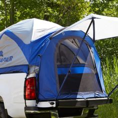 Sierra 1500 Sport Tent, 5ft 8in Bed, Short Box:Use this lightweight, water-resistant nylon sport tent to convert your Sierra into a camper in minutes. Designed specifically to fit your vehicle's contours, it features a form-fitted waterproof floor that extends onto the tailgate to give you additional functional space. Colors: Gray, Blue and Black.