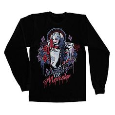 Officially Licensed Merchandise Suicide Squad Harley Quinn Long Sleeve Tee, (Black) XX-Large #camiseta #realidadaumentada #ideas #regalo