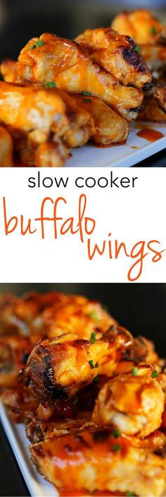 fall party food Fall off the bone slow cooker buffalo wings are such a delicious way to feed a crowd or feed a few. The easiest buffalo wings recipe - quick & man approved. Slow Cooker Recipes, Cooking Recipes, Crockpot Recipes, Slow Cooker Dips, Slow Cooker Appetizers, Crockpot Dishes, Frango Chicken, Easy Party Food, Wing Recipes