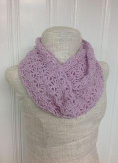 Lacy Shell Crochet Infinity Scarf