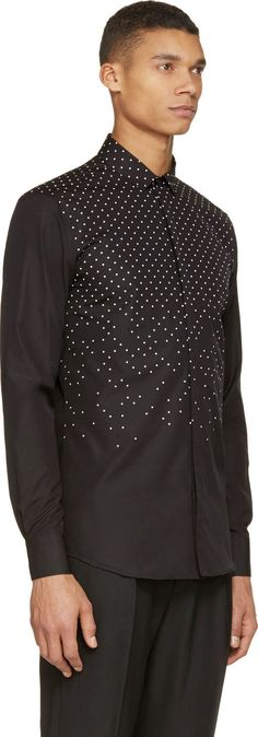 Neil Barrett Black Polka-Dot Shirt