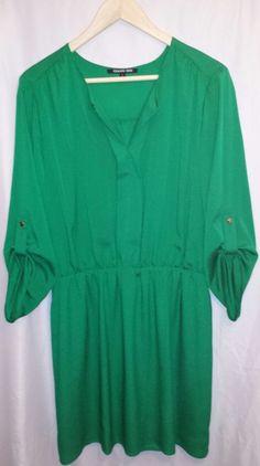 Gianni Bini Emerald Green Dress 100%Polyster~Size Large #GIANNIBiNI