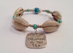 Dreaming of the Sea Hemp and Shell Bracelet by BeachyKeenStyle