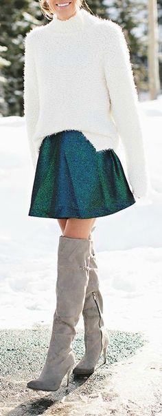 Metallic skirt.