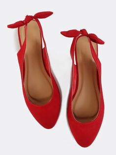 Shop Pointed Toe Slingback Flats RED online. SheIn offers Pointed Toe Slingback Flats RED & more to fit your fashionable needs.