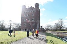 While in the town the royal also visited Tattershall Castle in capacity with his role as President of the National Trust