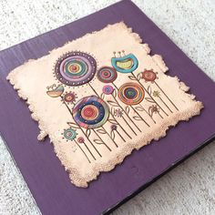 Bull's Eye Studio-Handcrafted Fun and Functional Art by bullseyestudio Clay Projects, Clay Crafts, Arts And Crafts, Polymer Clay Embroidery, Polymer Clay Art, Ceramic Painting, Ceramic Art, Painted Wooden Boxes, Clay Wall Art