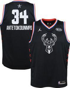 047d640dc Jordan Youth 2019 NBA All-Star Game Giannis Antetokounmpo Black Dri-FIT  Swingman Jersey