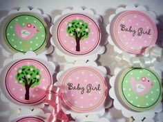 Birdie  CUPCAKE TOPPERS  Baby Birdie  Baby Shower  by 10candles, $10.00