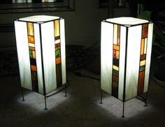 Custom Made Stained Glass Lamp